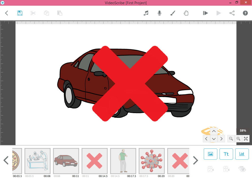 اعمال تنظیمات افکت و زمان به اسلاید دوم انیمیشن وایت بردی - آموزش انیمیشن VideoScribe