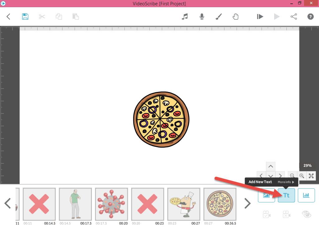 انتخاب متن در انیمیشن وایت بردی - آموزش انیمیشن VideoScribe