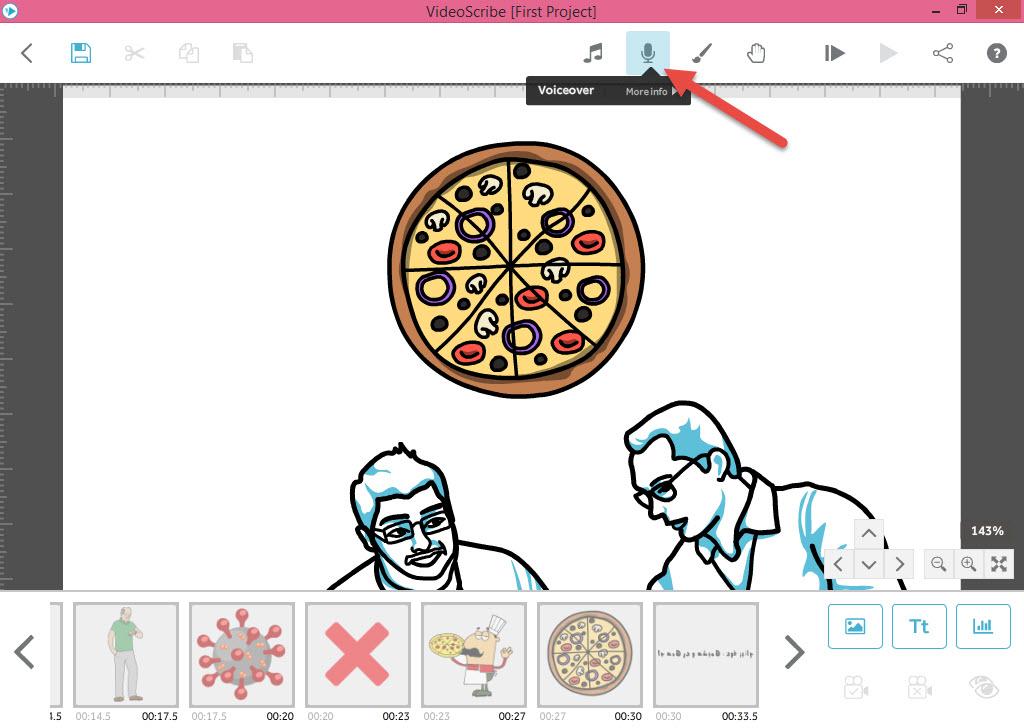 اضافه نمودن صدا به انیمیشن وایت بردی - آموزش انیمیشن VideoScribe