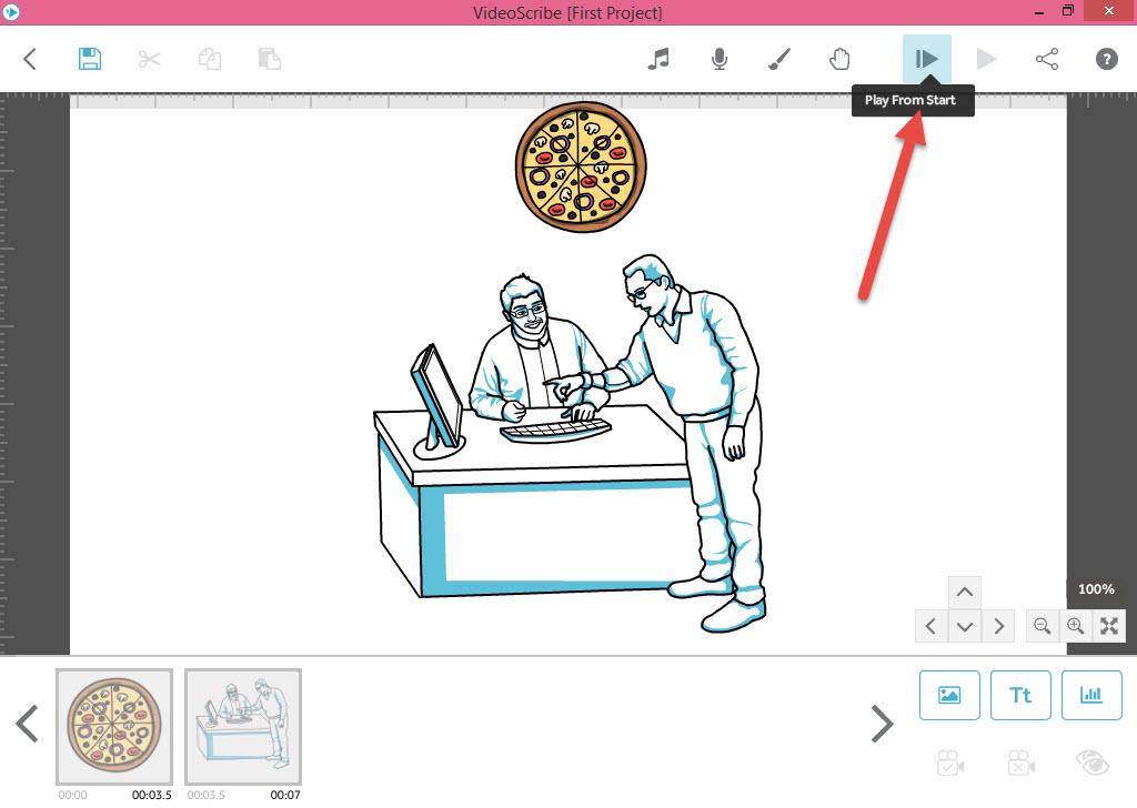 اجرای تنظیمات زمان و افکت در VideoScribe - آموزش انیمیشن VideoScribe