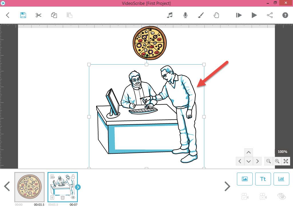 تنظیم زمان انیمیشن و افکن آن - آموزش انیمیشن VideoScribe