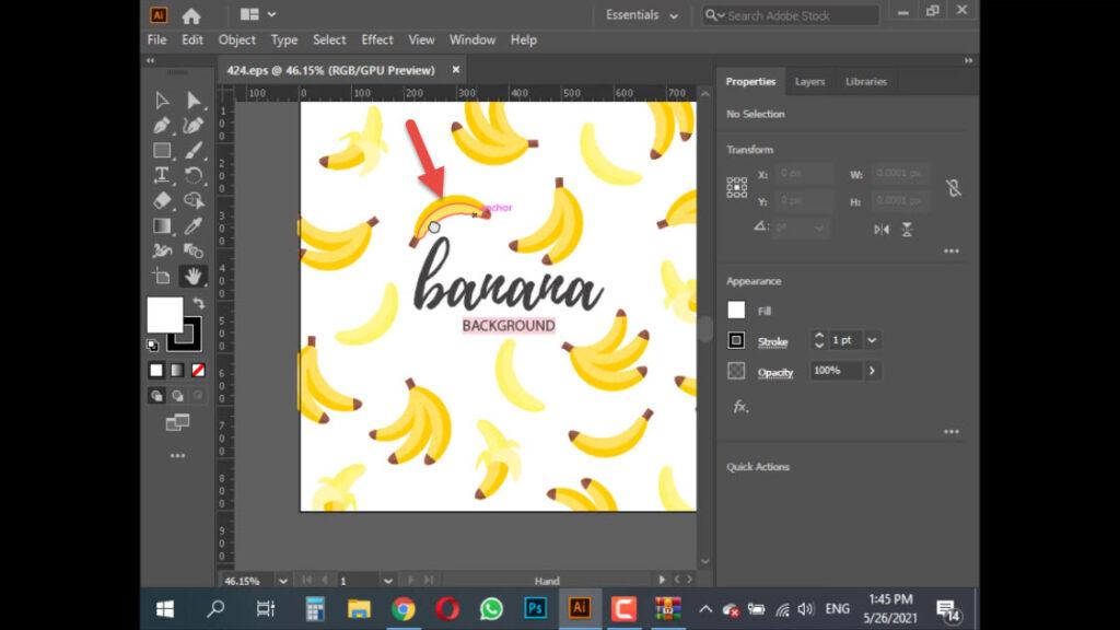 وارد کردن تصویر مورد نظر در برنامه Illustrator